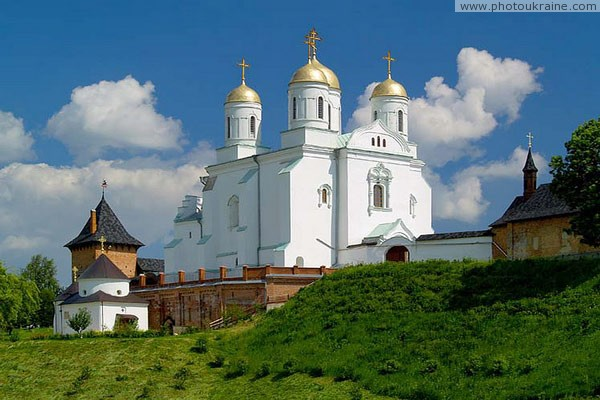 Zymne. Trinity church near walls of monastery Volyn Region Ukraine photos