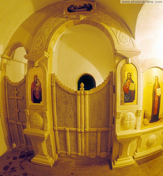 Zymne. Entrance to cave, which began with monastery Volyn Region Ukraine photos