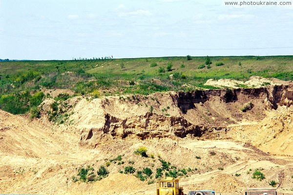 Korshiv. Sand quarry Volyn Region Ukraine photos