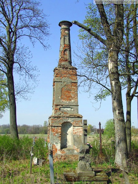 Lukiv. Cemetery old monument Volyn Region Ukraine photos