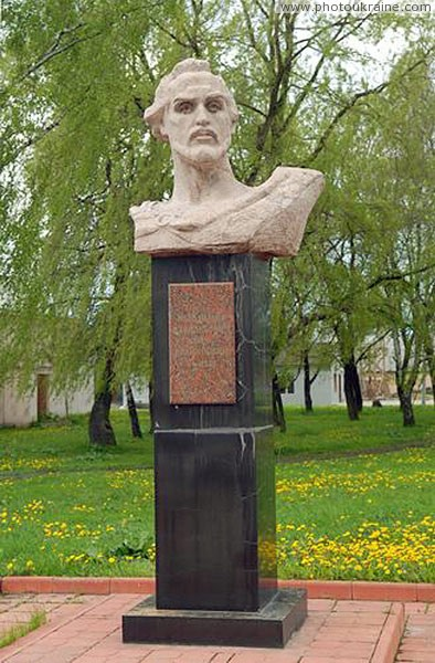 Lyuboml. Monument to founder of town Volyn Region Ukraine photos