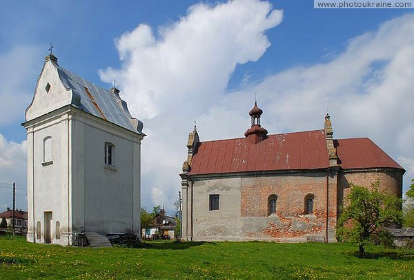 Lyuboml. Belfry and Holy Trinity church Volyn Region Ukraine photos
