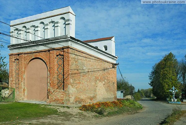 Olyka. Old Lutsk gate at side of history Volyn Region Ukraine photos