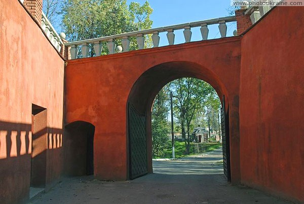 Olyka. First in series of castle gate Volyn Region Ukraine photos