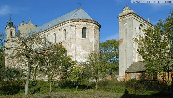 Olyka. Church and bell tower Volyn Region Ukraine photos