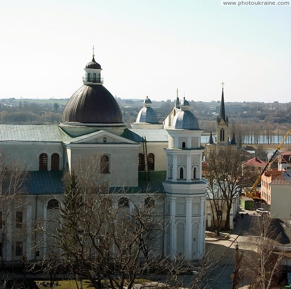Lutsk. View of Peter and Paul church from tower Lutsk castle Volyn Region Ukraine photos