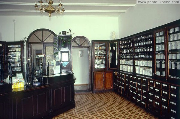 Lutsk. Pharmacy museum – fragment of exposition Volyn Region Ukraine photos