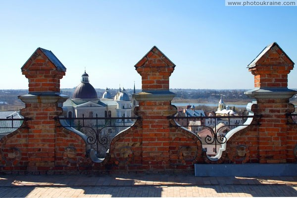 Lutsk. Teeth entrance towers castle Volyn Region Ukraine photos