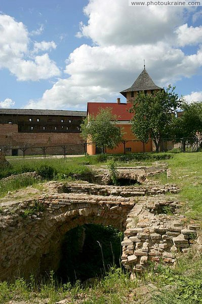 Lutsk. Old foundations Lutsk castle Volyn Region Ukraine photos
