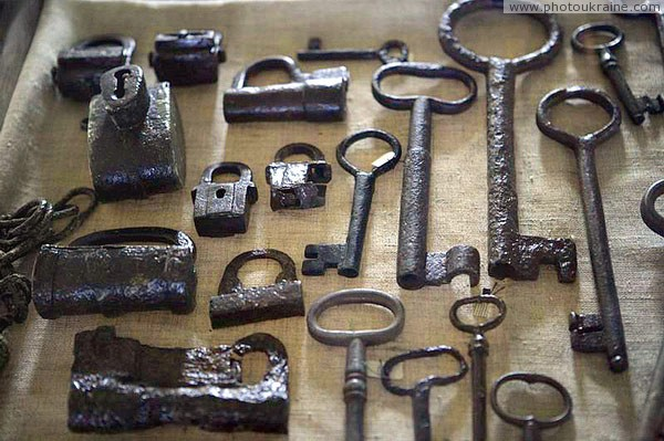 Lutsk. Lutsk castle, collection of locks and keys Volyn Region Ukraine photos
