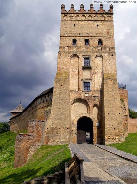 Lutsk. Lutsk castle, complex Lyubart tower Volyn Region Ukraine photos