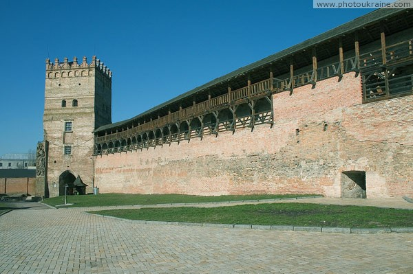 Lutsk. Lutsk castle, inside facade of Lyubart tower Volyn Region Ukraine photos