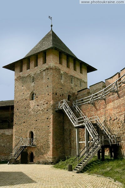 Lutsk. Lutsk castle, porch connects Vladycha and Lyubart towers Volyn Region Ukraine photos