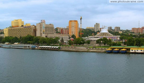 Dnipropetrovsk. Part of Dnieper embankment Dnipropetrovsk Region Ukraine photos