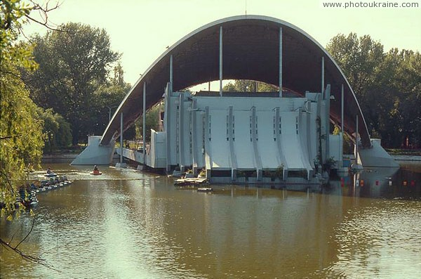 Dnipropetrovsk. Summer Theater in pond Dnipropetrovsk Region Ukraine photos