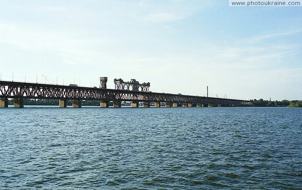 Dnipropetrovsk. Amur bridge – oldest in city Dnipropetrovsk Region Ukraine photos
