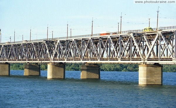 Dnipropetrovsk. Intricacies of Amur bridge Dnipropetrovsk Region Ukraine photos