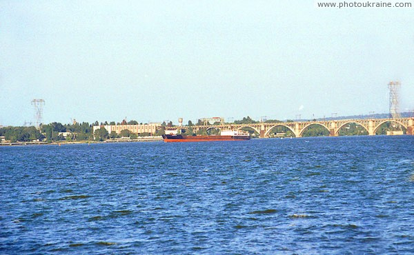 Dnipropetrovsk. Dry cargo ship on Dnieper Dnipropetrovsk Region Ukraine photos