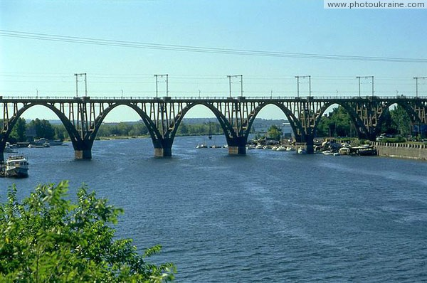 Dnipropetrovsk. Graceful Merefa-Kherson railway bridge Dnipropetrovsk Region Ukraine photos