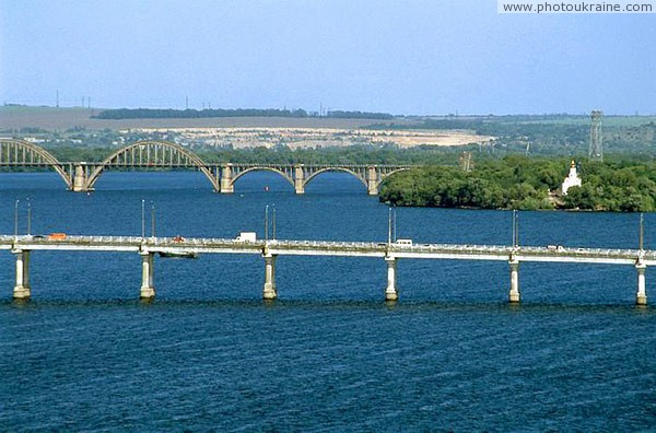 Dnipropetrovsk. Central and Merefa-Kherson bridges across Dnieper Dnipropetrovsk Region Ukraine photos