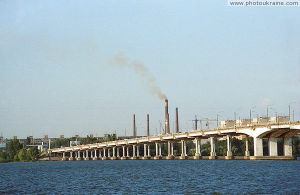 Dnipropetrovsk. Central (New) road bridge Dnipropetrovsk Region Ukraine photos