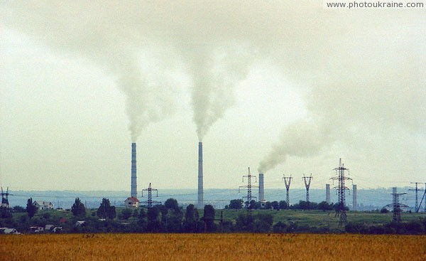Dnipropetrovsk. Plant on southern outskirts Dnipropetrovsk Region Ukraine photos