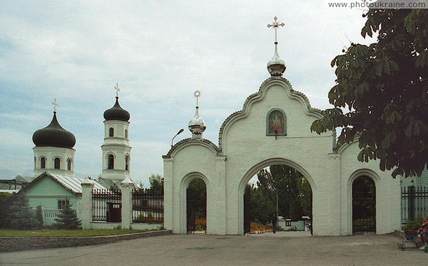 Nikopol. Main gates of Savior Transfiguration Cathedral Dnipropetrovsk Region Ukraine photos