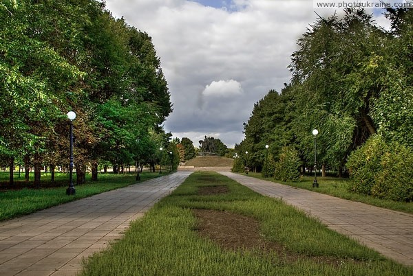Zhovti Vody. In city park of Glory Dnipropetrovsk Region Ukraine photos
