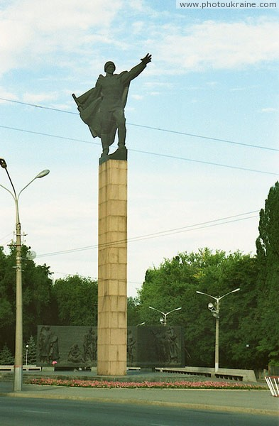 Kryvyi Rih. Bronze soldier monument Dnipropetrovsk Region Ukraine photos