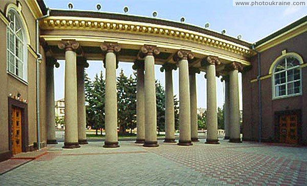 Kryvyi Rih. Inner courtyard and colonnade of Metallurgists palace Dnipropetrovsk Region Ukraine photos
