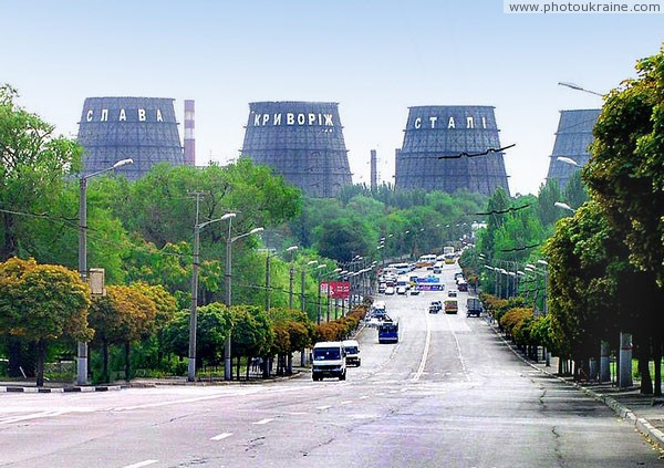 Kryvyi Rih. Indicative urban highways Dnipropetrovsk Region Ukraine photos