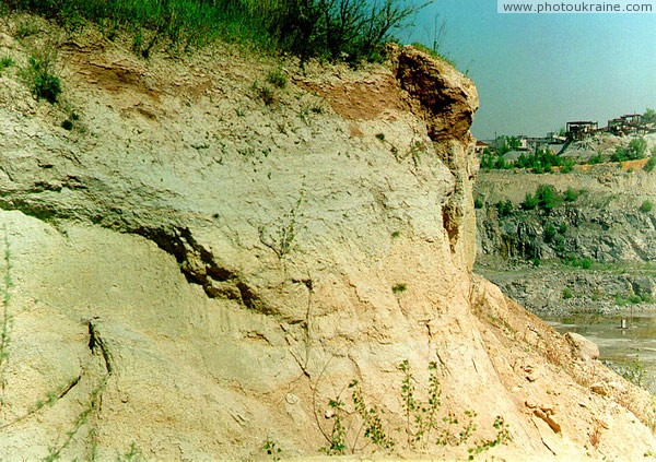 Dnipropetrovsk. Quaternary rocks cover of Rybalsky quarry granites Dnipropetrovsk Region Ukraine photos