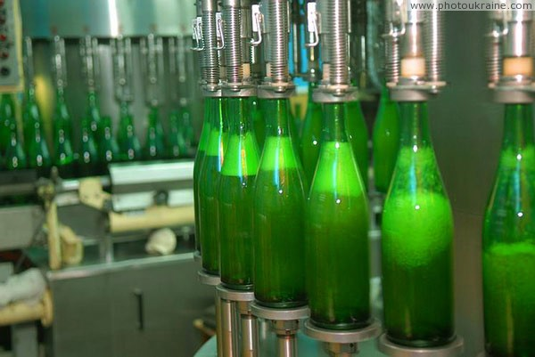 Artemivsk. Conveyor bottling of sparkling wine Donetsk Region Ukraine photos