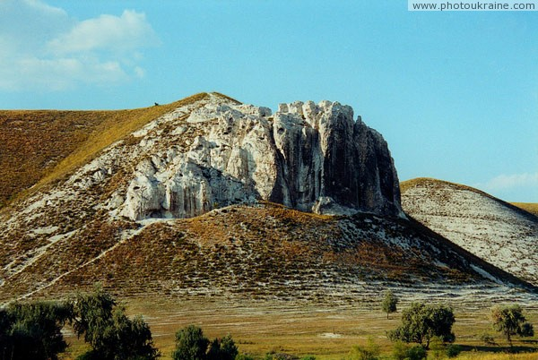 Bilokuzmynivka. Upper Cretaceous rock Donetsk Region Ukraine photos