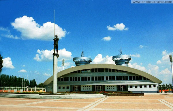 Donetsk. Monument to S. Bubka and Olympic Stadium Donetsk Region Ukraine photos