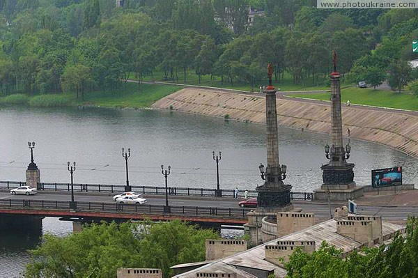 Donetsk. Right-bank part of Makiivskyi bridge Donetsk Region Ukraine photos