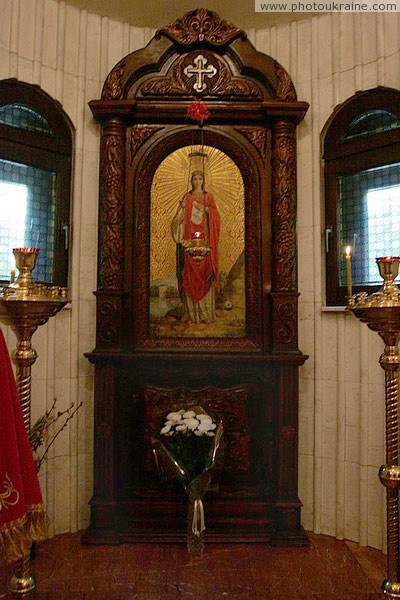 Donetsk. Mini-altar of St. Barbara chapel Donetsk Region Ukraine photos