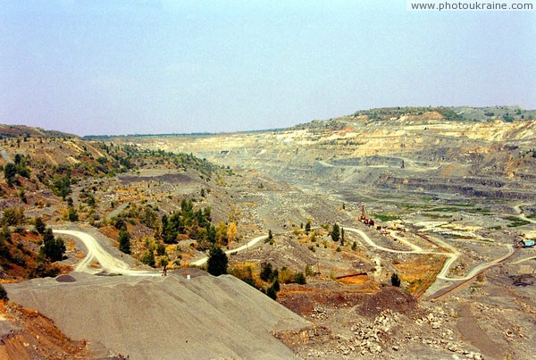 Komsomolske. Quarry stretched a kilometer Donetsk Region Ukraine photos