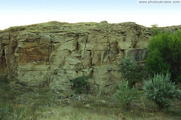 Kostiantynivka. These sandstones 300 million years Donetsk Region Ukraine photos
