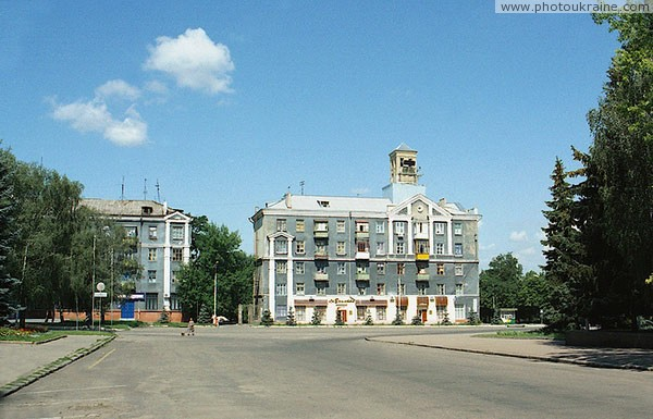 Kramatorsk. Building on square of V. Lenin Donetsk Region Ukraine photos