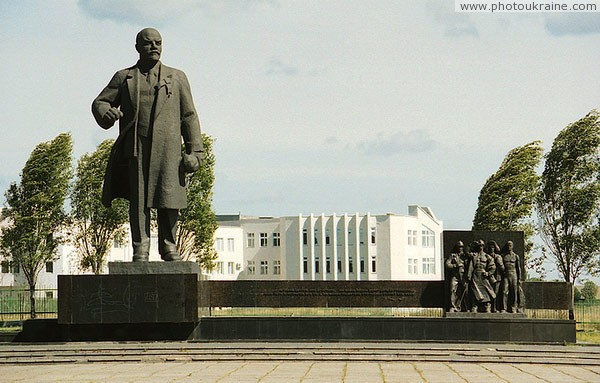 Mariupol. Lenin monument on square of same name Donetsk Region Ukraine photos