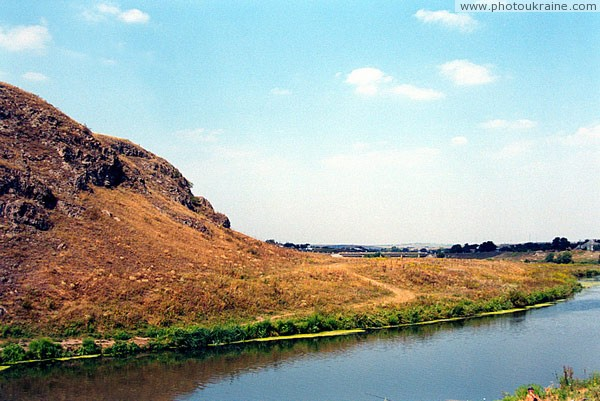 Rozdolne. Ancient volcano on shore Kalmius Donetsk Region Ukraine photos