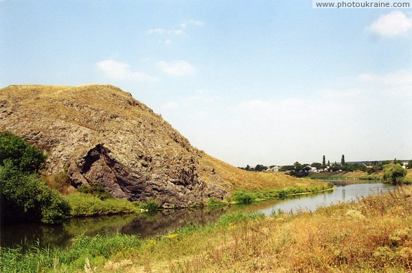 Rozdolne. River bends around Kalmius Paleozoic volcano Donetsk Region Ukraine photos