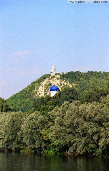 Sviatogirsk. Above dome of Holy Virgin Protection church Donetsk Region Ukraine photos