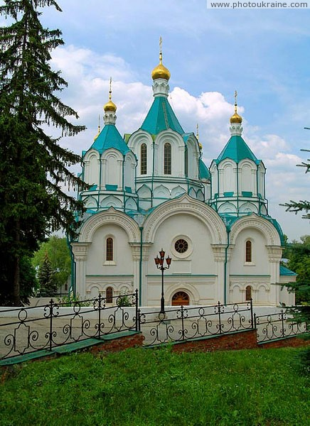Sviatogirska lavra. Assumption Cathedral of monastery Donetsk Region Ukraine photos