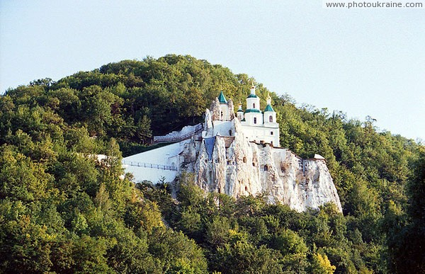 Sviatogirska lavra. Nicholas church – main attraction Lavra Donetsk Region Ukraine photos