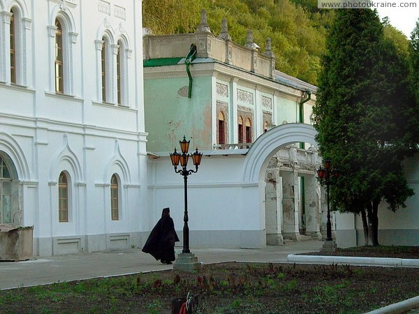Sviatogirska lavra. In service Donetsk Region Ukraine photos