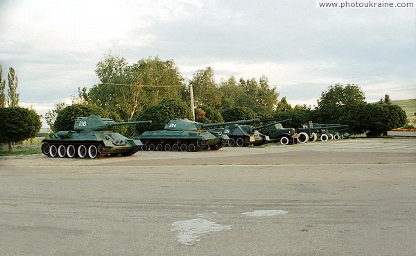 Savur-Mohyla. Exhibition of military equipment Donetsk Region Ukraine photos