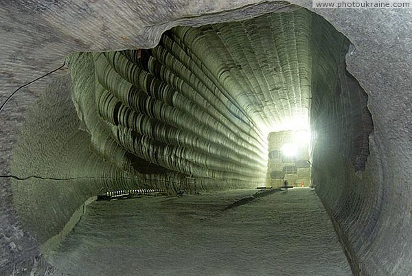 Soledar. Salt room 27-meter height Donetsk Region Ukraine photos