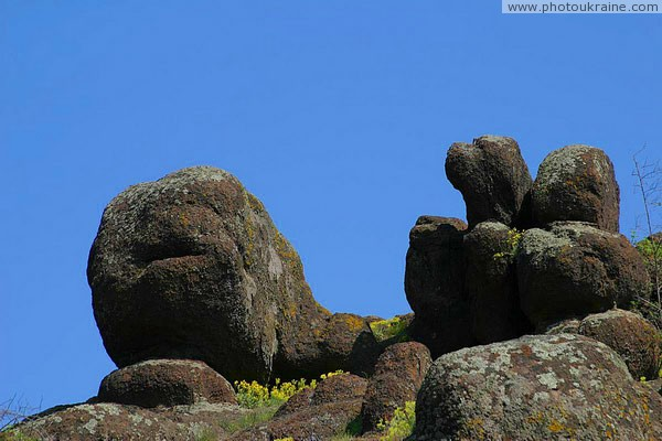 Starolaspa. Steppe granite outcrops Donetsk Region Ukraine photos